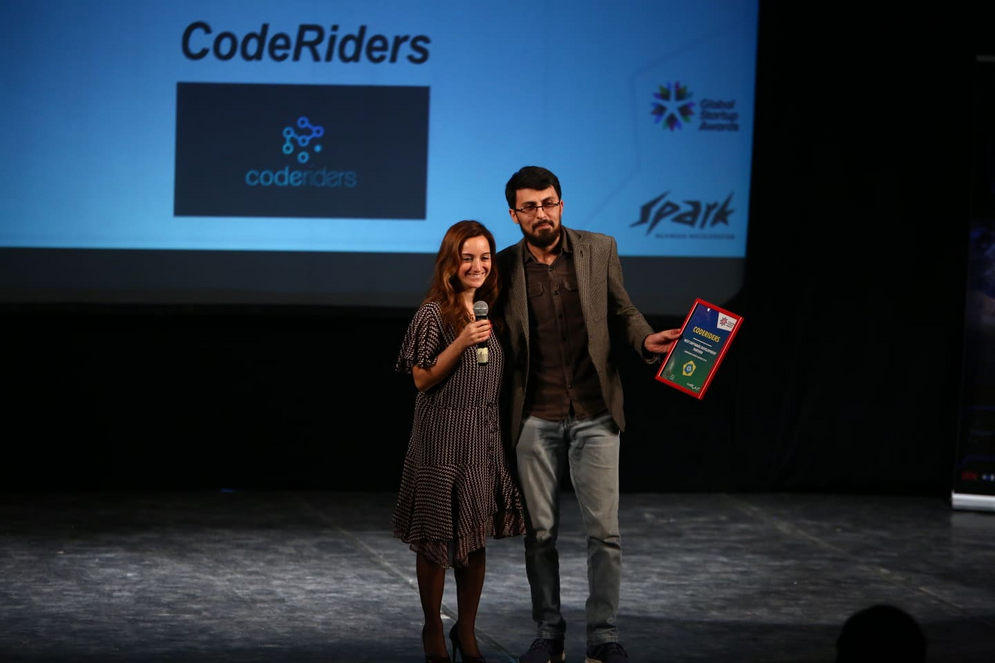 The announcement of CodeRiders as the regional winner of Best Software Development Partner nomination