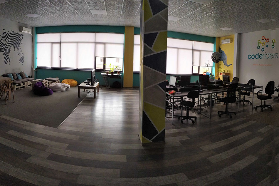 Empty office as a result of COVID-19 lockdown