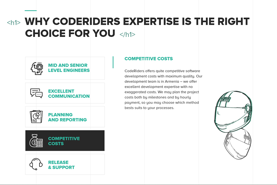 Competitive and flexible software development costs